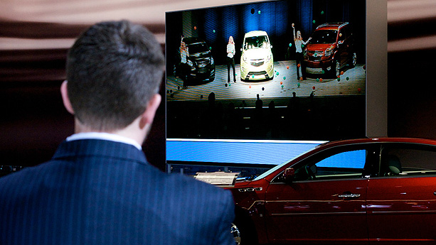 GM employee overlooks presentation