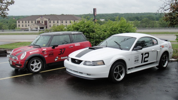 Ford Mustang Mach 1 and Mini Cooper