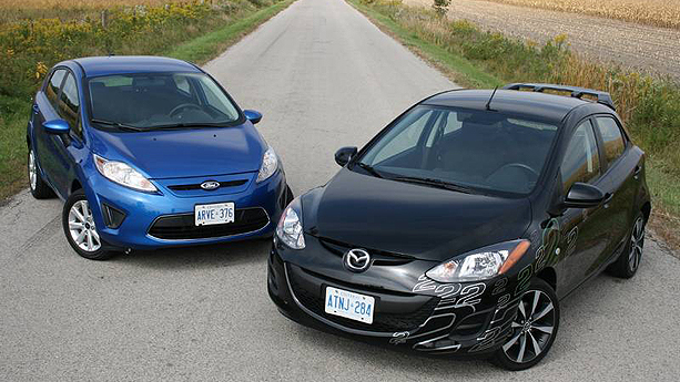 2011 Ford Fiesta vs 2011 Mazda2